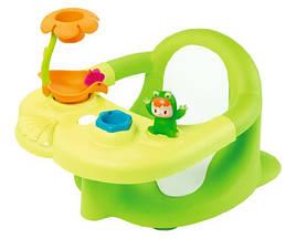 Стульчик для купания Smoby Cotoons зеленый Грин с игровой панелью 110615