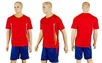 Форма футбольная без номера CO-5401-R (PL, р-р M-L, красный, шорты синие)