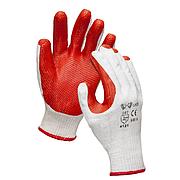 Перчатки резиновым покрытием