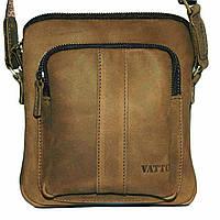 Кожаная мужская сумочка Mk48 бежевая