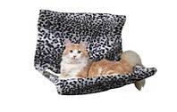 Гамак подвесной для кота (плюш) 58х30х38см леопард.
