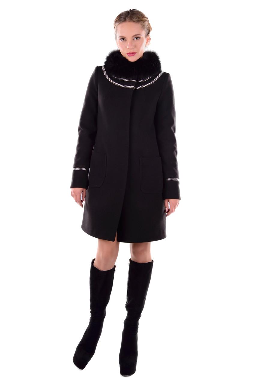 Женское зимнее пальто с красивым мехом арт. Ницца Турция элит зима 5318