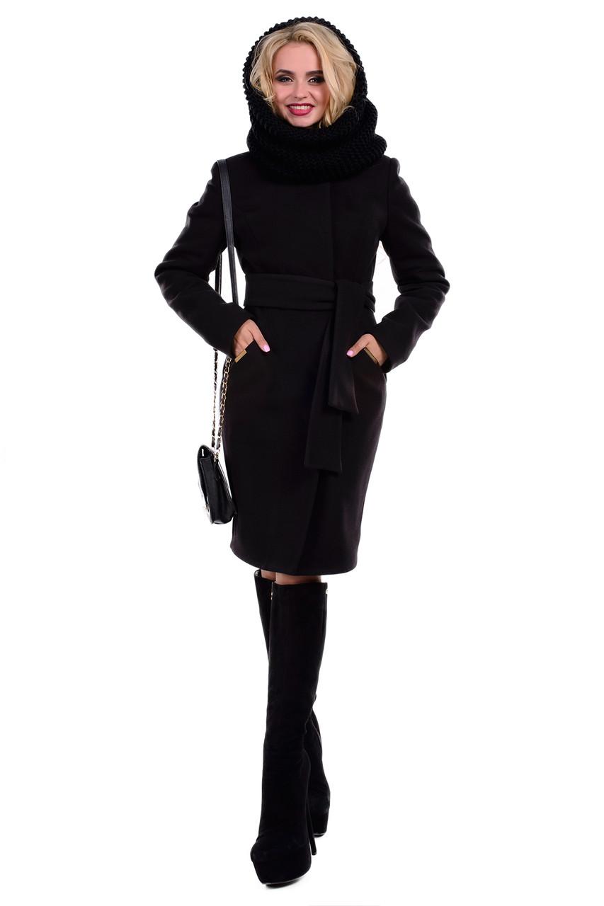 Женское зимнее пальто с хомутом арт. Луара лайт Турция элит зима хомут 4619