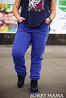 Женские теплые спортивные брюки в больших размерах v-1015877