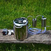 Домашний самогонный аппарат с баботером и змеевиком Веселый Бородач электро/газ
