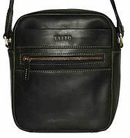 Кожаная мужская сумочка Mk46 черная матовая