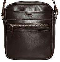 Кожаная мужская сумочка Mk46 коричневая шоколад