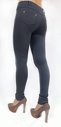 Брючные лосины модель №126, серые, фото 2