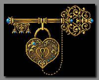 Схема для вышивки бисером Ключ к счастью