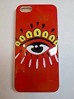 Чехол силиконовый с рисунком глаз для iPhone 5/5s/5se
