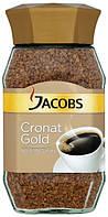 Немецкий растворимый кофе Jacobs Сronat Gold (кофе якобс сублимированный), 200 г.