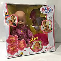 Интерактивный пупс Baby Born девочка в сиреневой одежде, фото 1