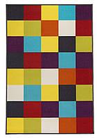 """Детский разноцветный коврик """"Кольори"""" 100х150 см Разноцветные квадратики"""