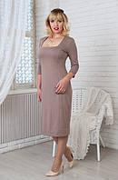 Оригинальное женское платье прямого покроя