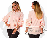 Рубашка женская с оборками на рукавах БАТ 923 (206)