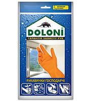 Перчатки хозяйственные латексные размер М ТМ DOLONI 10шт