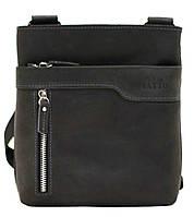 Кожаная мужская сумочка Mk13 черная матовая