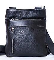 Кожаная мужская сумочка Mk13 черная