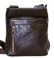 Кожаная мужская сумочка Mk13 коричневая шоколад