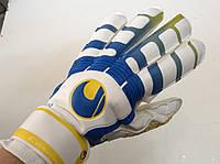 Перчатки вратарские UHLSPORT р.9  с защитными вставками