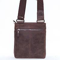 Кожаная мужская сумочка Mk13 коричневая