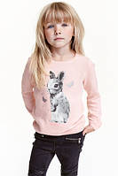 Свитер h&m детский яркого цвета+новая коллекция  с аппликацией