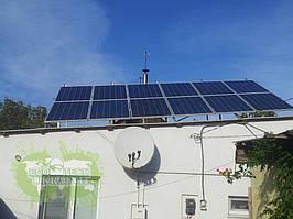 Домашняя крышная сетевая солнечная электростанция на фотомодулях мощностью 3 кВт
