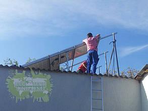 Монтаж фотомодуленй на крышу