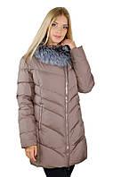 Женское пальто Salco на холлофайбере с чернобуркой