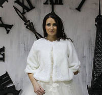 Свадебная шубка Шанель мутон