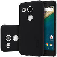 Чехол Nillkin Frosted для LG Google Nexus 5x черный (+пленка)