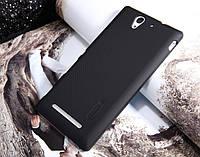 Чехол Nillkin Frosted для Sony Xperia C3 черный (+пленка)