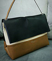 Женская сумочка на плечо Celine цвет коричневый с черным