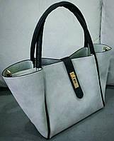 Женская стильная и модная сумочка цвет серый