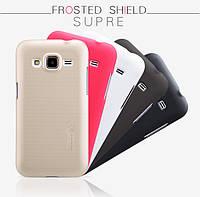 Чехол Nillkin Frosted для Samsung G360H/G361H Galaxy Core Prime Duos золотой (+пленка)