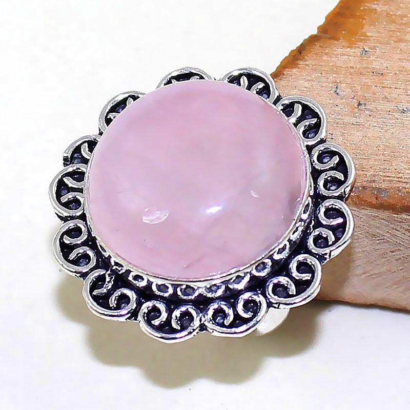 Кольцо с Розовым Кварцем / Рубиновая Мечта