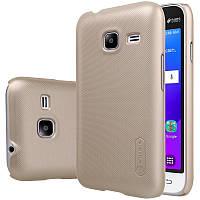 Чехол Nillkin Frosted для Samsung J105H Galaxy J1 Mini / Galaxy J1 Nxt золотой (+пленка)