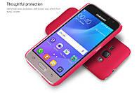 Чехол Nillkin Frosted для Samsung J120F Galaxy J1 (2016) красный (+пленка)