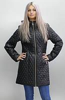Женская демисезонная куртка КС-13  черная 40-52 размеры