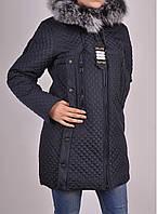 Пальто женское стеганное (цвет темно-синий) Olso Размеры в наличии : 50,52,54,56,58 арт.1677 (производство Укр