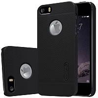 Чехол Nillkin Frosted для Apple iPhone 5/5S/SE черный (+пленка)