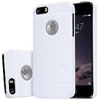 Чехол Nillkin Frosted для Apple iPhone 5/5S/SE белый (+пленка)
