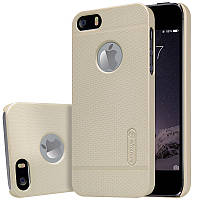 Чехол Nillkin Frosted для Apple iPhone 5/5S/SE золотой (+пленка)