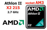 Процессор   AMD Athlon II X2 215, AM3, 2.7 ГГц, 2 ядра, ADX215OCK22GQ