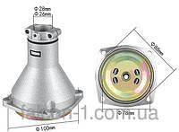 Редуктор верхний для мотокос (большой), квадрат 5/5, D трубы - 26 мм, D муфты - 78 мм