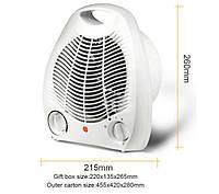 Тепловентилятор FAN HEATER NK 200A+200C, электрический обогреватель для дома