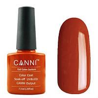 Гель-лак CANNI №093 (темный кирпично-красный, эмаль), 7.3 мл
