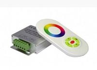 Радио RGB Контроллер 18А (белый полусенсорный пульт)