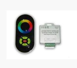 Радио RGB Контроллер 18А (черный полусенсорный пульт)