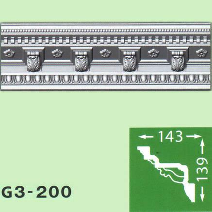 Плинтус потолочный G3-200, фото 2